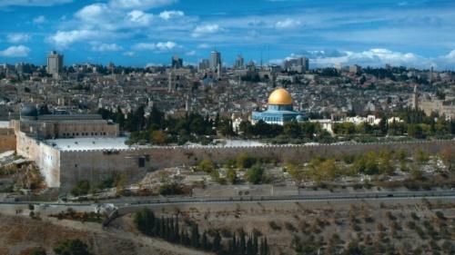 A área do Monte do Templo em Jerusalém.