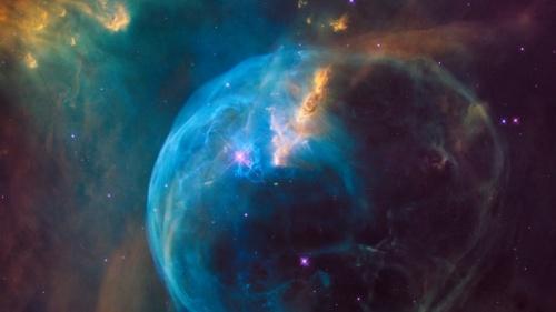 Uma foto de galáxias.