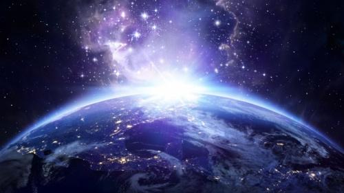 A Terra do espaço sideral.