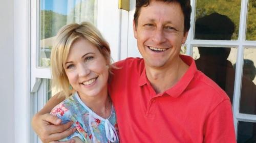 Cathy e seu marido Vivien Botha.