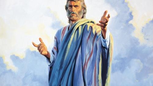 Uma representação artística de um profeta.