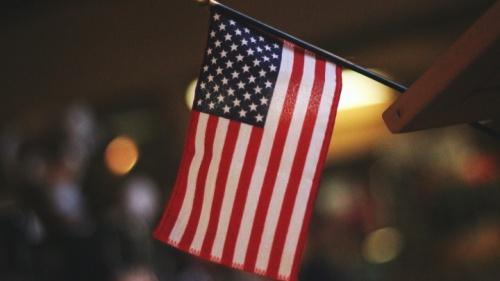 Uma bandeira americana.