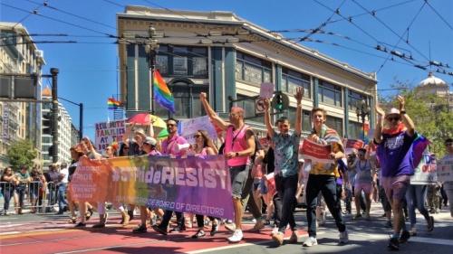Parada do orgulho gay.