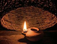 lamp under basket