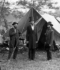 Allan Pinkerton com Abraham Lincoln, 1864