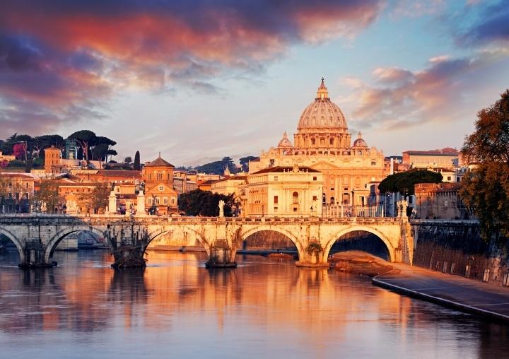 Cidade do Vaticano com a Basílica de São Pedro