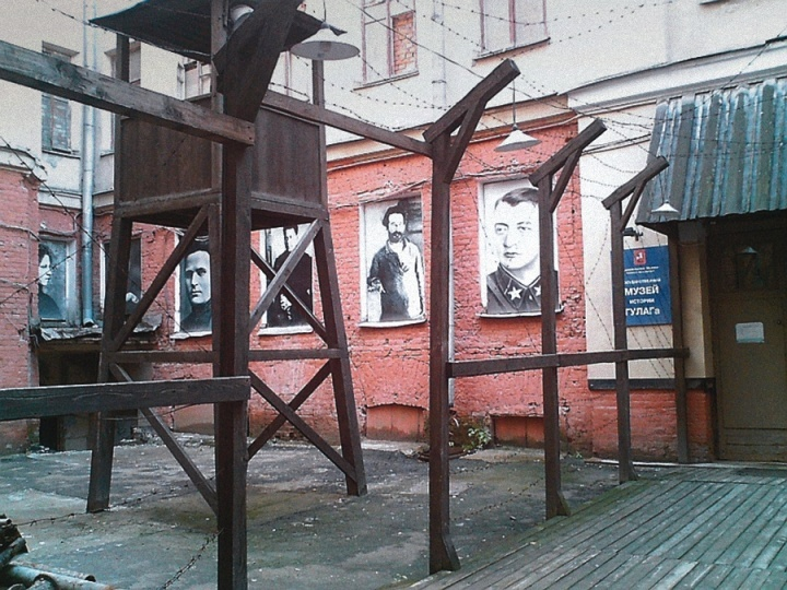 Exposição no Museu Gulag em Moscou.