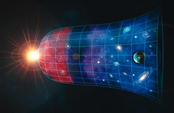Ilustração do universo em expansão.